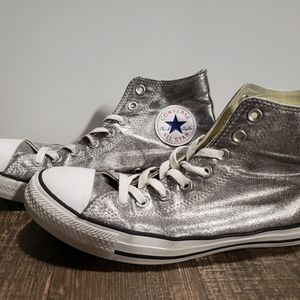 Converse All Star Hi Top Silver Sneakers